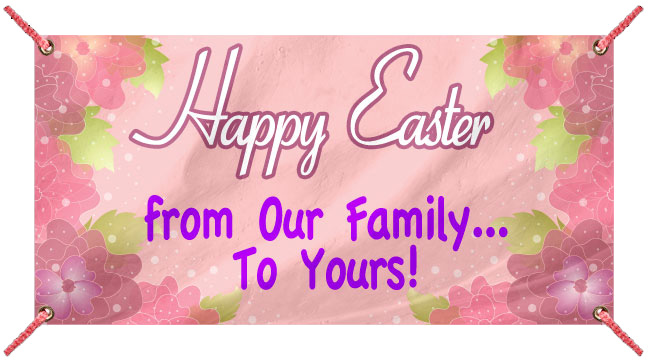 Easter Flowers - Custom Banner
