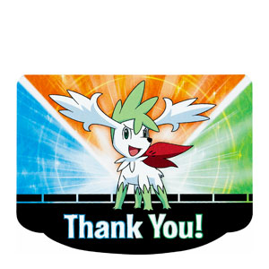 Pokemon Diecut Thank You Cards- 8ct