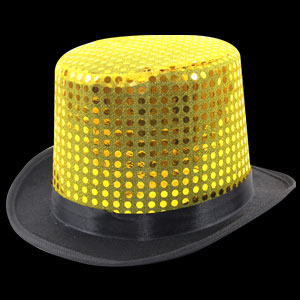 Sequin Top Hats - Gold