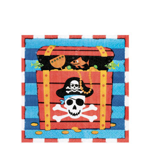 Pirate's Treasure Luncheon Napkins- 16ct