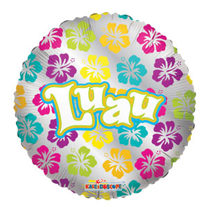 Luau Flowers Balloon- 18in