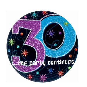 The Party Continues-30 9 Inch Prismatic Plates- 8ct