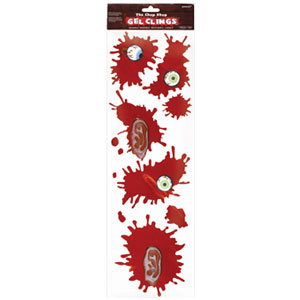 Bloody Parts Gel Clings- 5ct