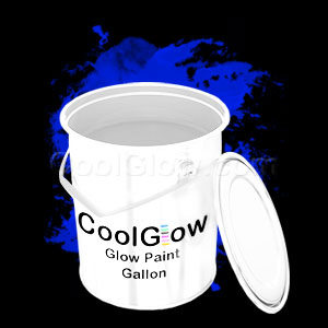 Glominex Glow Paint Invisible Day Gallon Blue