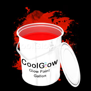 Glow Body Paint Gallon Red
