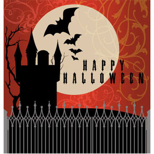 Frightful Night Plastic Tablecover- 108in