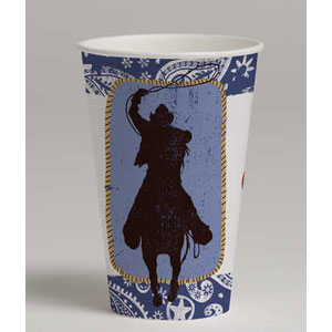Western Lasso 12 oz. Cups- 8ct