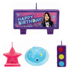 iCarly Mini Molded Cake Candles- 4pc