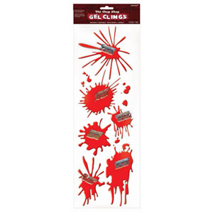 Chop Shop Razor Blade Splatter Gel Clings- 6ct