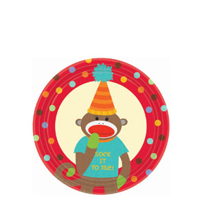 Monkey Party 7 Inch Plates- 8ct