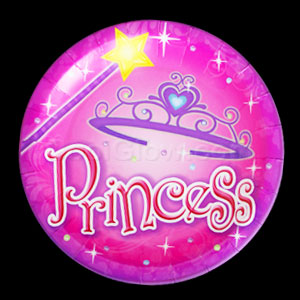 Princess Party 9 Inch Plates
