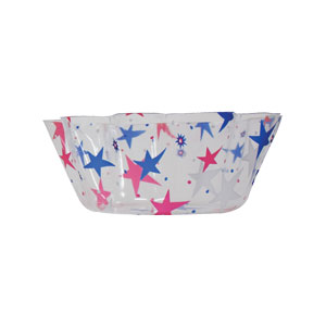 Patriotic 8 Inch Clear Bowl