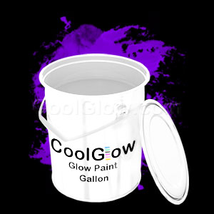 Glominex Glow Paint Invisible Day Gallon Purple