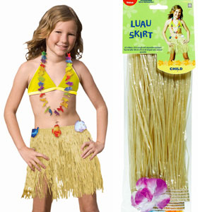 Child Plastic Hula Skirt