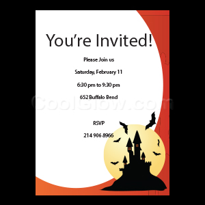 Haunted House - Custom Invitations
