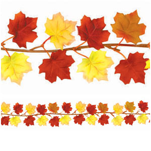Fall Leaves Mini Fabric Garland- 6ft