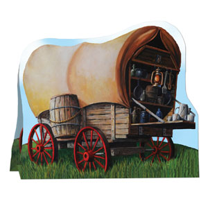 3-D Chuck Wagon Centerpiece- 8in