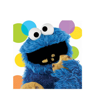 Sesame Street Cookie Monster Luncheon Napkins- 16ct