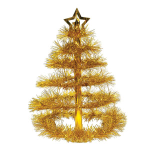 Gold Christmas Tree Centerpiece - 16in