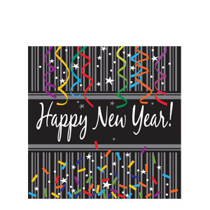 New Year Sparkle Luncheon Napkins