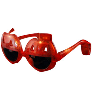 LED Pumpkin Sunglasses - Orange