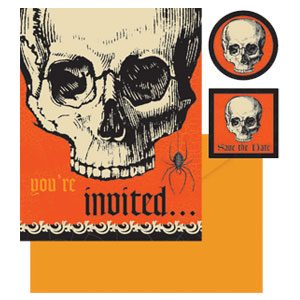 Skeleton Invitation Pack 20ct