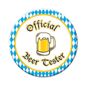 Official Beer Tester Button - 3in