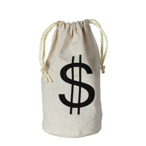 Dollar Sign Bag- 8in