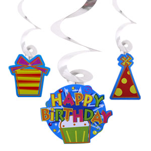 Swirl 24 inch Dangle - Birthday