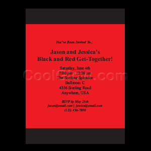 Black  Red Stripe - Custom Invitations