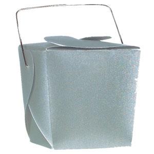 Silver Mini Wedding Favor Pails - 12 Ct