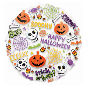 Spooktacular 2-Sided Metallic Balloon- 18in