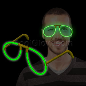 Glow Eye Glasses - Green