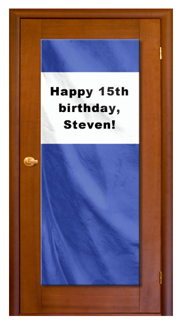 Royal Blue - Custom Door Banner