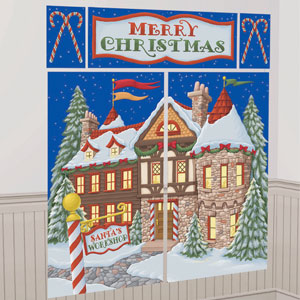 Santa's Workshop Scene Setter Kit - 5ct