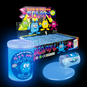 Glow in the Dark Slime - Blue