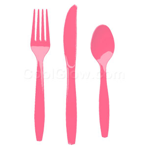Pink Cutlery Assortment - 150ct