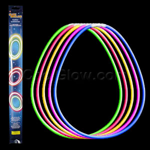 22 Inch Retail Packaged Glow Necklaces 10pcs - Assorted