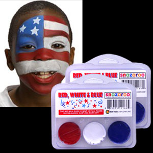 Red White and Blue Face Paint Kit