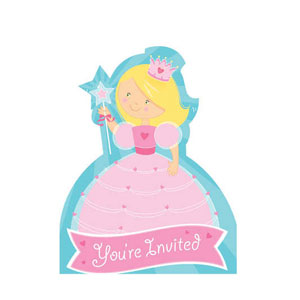 Fairytale Princess Invitations- 8ct