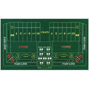 Craps Felt Game Board- 72in