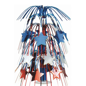 Patriotic Stars Foil Centerpiece - 18in