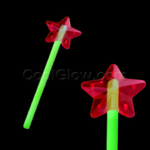 Fun Central O008 Glow in the Dark Premium Star Wand - Green