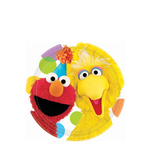Sesame Street Party 7 Inch Plates- 8ct