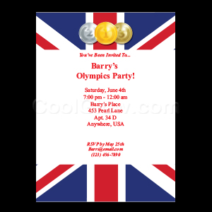 British Olympic Flag - Custom Invitations