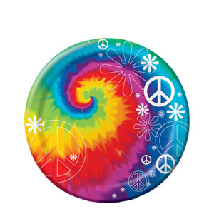 Tie Dye 7 Inch Plates- 8ct