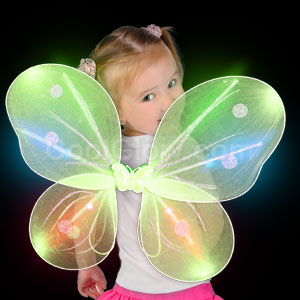 LED Butterfly Wings - Green