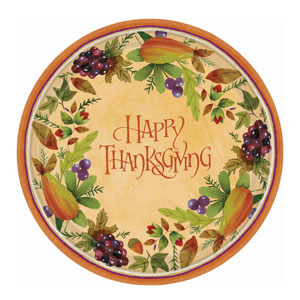 Thanksgiving Medley 10 Inch Plates- 8ct
