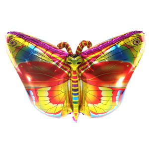 32 Inch Butterfly Metallic Balloon