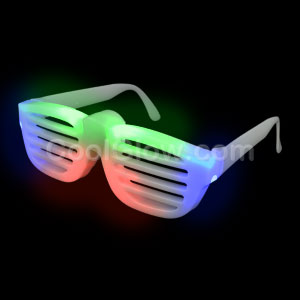 LED Rock Star Slotted Shades - Multicolor